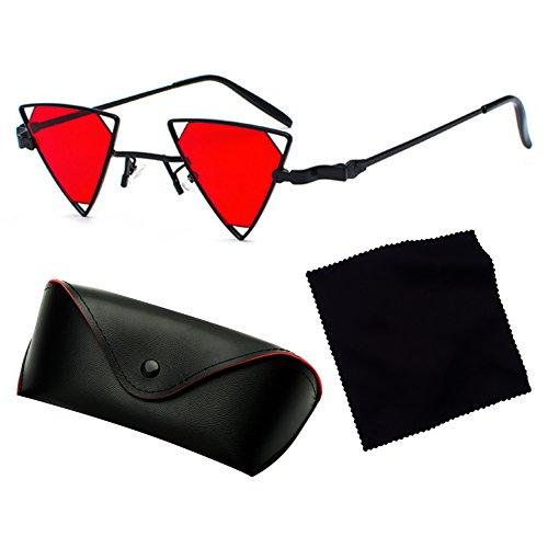 triángulo Glasses Steampunk hueco juqilu Cool hombres C3 fuera mujeres sol de estilo moda gafas Metal TzSwP1q