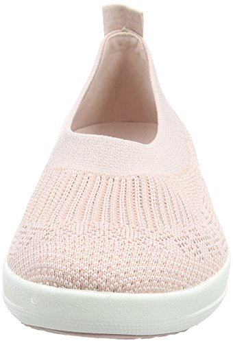Womens Fitflop Uberknit Ballerina Camminare Slip-on Neon Arrossire / Bianco