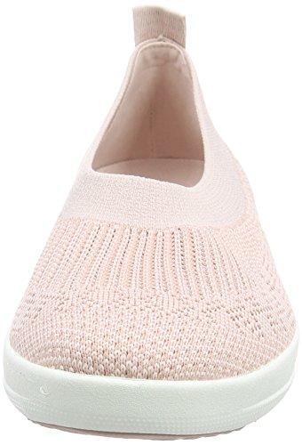 FITFLOP UberknitSlip-On, Zapatillas Sin Cordones Para Mujer Rosa (Neon Blush 460)