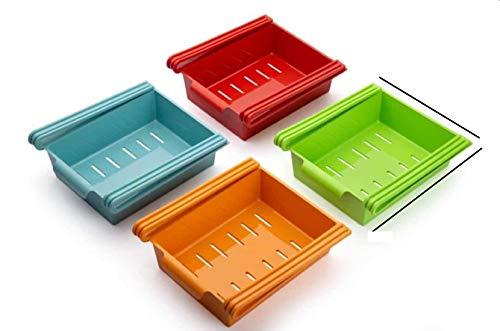 Dekmy® Fridge Rack,Refrigerator Tray Rack for Storage Fruit,Small Vegetable (4 Pieces)