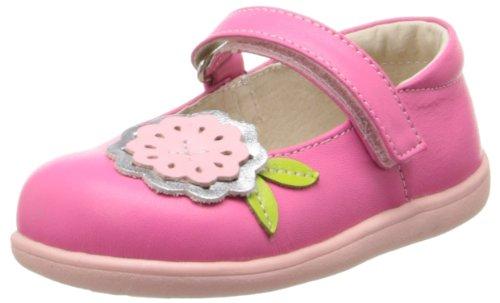 Natasha Leather - See Kai Run Natasha Mary Jane (Infant/Toddler),Hot Pink,4 M US Toddler