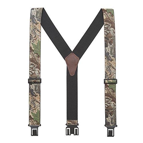 - Perry Mens Advantage Timber Camo Suspenders - Belt Clip 54 IN Multi