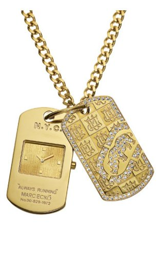 Marc Ecko Men's E14533G1 Gold Dog Tag II Watch