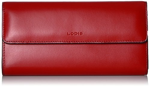 Lodis Women's Audrey Rfid Clutch Checkbook Cover, red, One Size