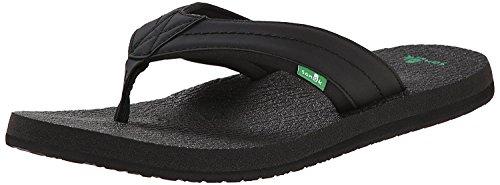 Sanuk Hommes Bière Confortable 2 Sandales / Tongs / Pantoufles Chaussures Noir