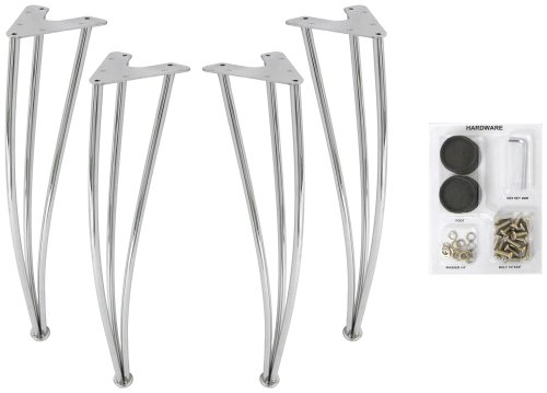 (DHP Bentwood Chrome Legs, Set of 4 Chrome Legs. DHP Bentwood Table top Sold Seperately)