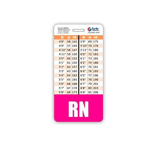new RN Nurse Badge Buddy w/ Pink Border Vertical - www