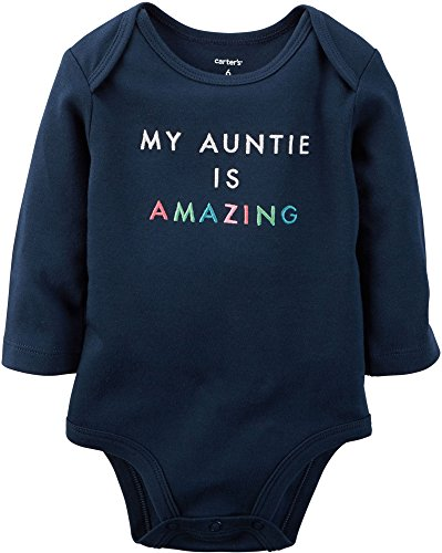 Carters Baby Clothing Outfit Girls Amazing Auntie Collectible Bodysuit Navy 9M
