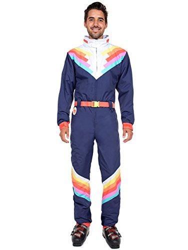 Blue Santa Suit (Tipsy Elves Santa Fe Shredder Ski Suit: X-Large)