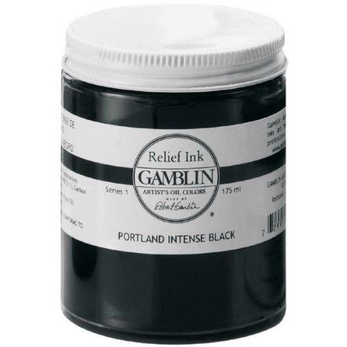 Gamblin GR2008 175ml Refill Ink - Portland Intense Black 4336975863