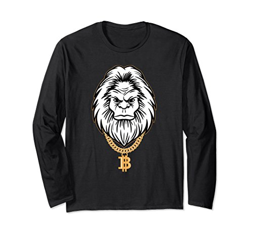 2cee603c5 Unisex Bigfoot Bitcoin Gangster Cryptocurrency Sasquatch Yeti Shirt XL:  Black