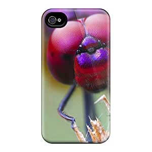 New Arrival Dragonfly Closeup FRu2263JiUQ Case Cover/ 4/4s Iphone Case