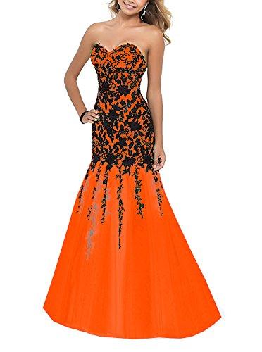 Kleid Orange A Damen Fanciest Linie qw4vvt