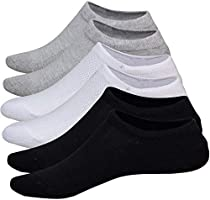 No Show Socks Women 3 Pairs Womens Cotton Low Cut Socks Non-Slip Grips Casual Low Cut Boat Sock Size 6-11