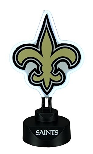 The Memory Company New Orleans Saints Logo Neon Tabletop Statue Accent Lamp