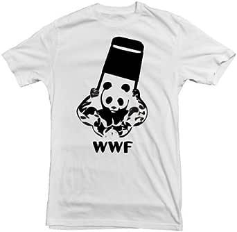 Amazon.com: Dicky Ticker Men's WWF T-Shirt Wrestling Panda