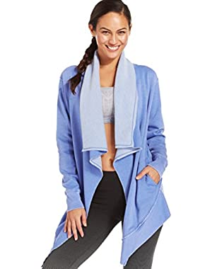 Calvin Klein Womens Draped Cardigan