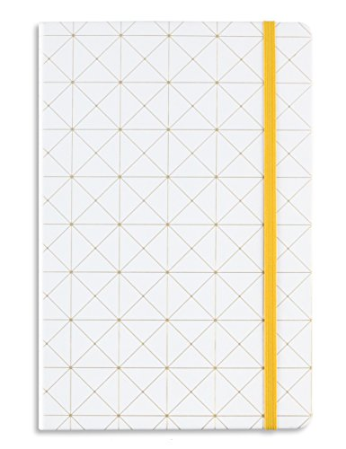 Miliko Geometry Golden Blocking A5 Hardcover Banded Dot Grid Notebook/Journal-100 Sheets(200 Pages).100gsm Inner Page. 8.27''x5.67''(Dot Grid) by MILIKO