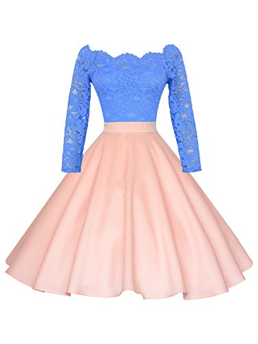 Maggie Tang 1950s Vintage Retro Polka Dots Swing Rockabilly Casual Skirts AP L Antique Pink