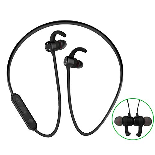Bluetooth Earbuds True Wireless Headphones, in-Ear Wireless Earphones IPX7 Waterproof 35H Playtime Bluetooth 5.0 Stereo Hi-Fi Sound with Portable Charging Case for All Smart Phones (X3-Black) Black Portable Stereo Headphones