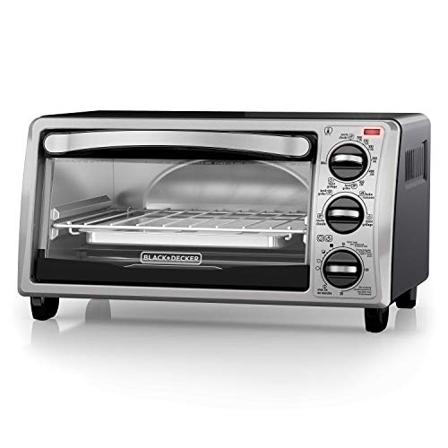 Black and Decker TO1313SBD 4-Slice Toaster Oven (Black & Decker Under Counter Toaster Oven)