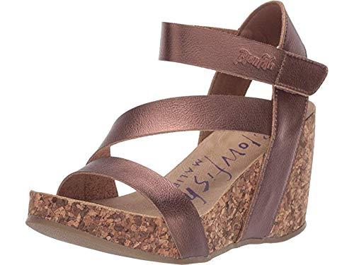 Blowfish Malibu Women's Hapuku Wedge Sandal (8, Amber Dyecut) (Women Sandal Gladiator Wedge)