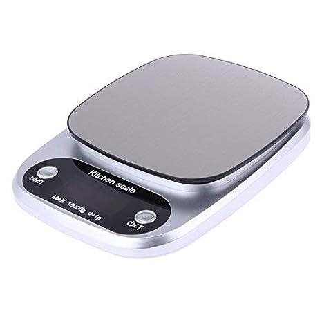 Digital Cocina Y para la comida Báscula con 4 unidad modos en acero inoxidable C305, 10 KG/1g: Amazon.es