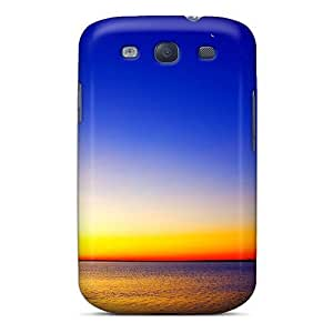 Defender Case With Nice Appearance (lonely Boat Sunset) For Galaxy S3