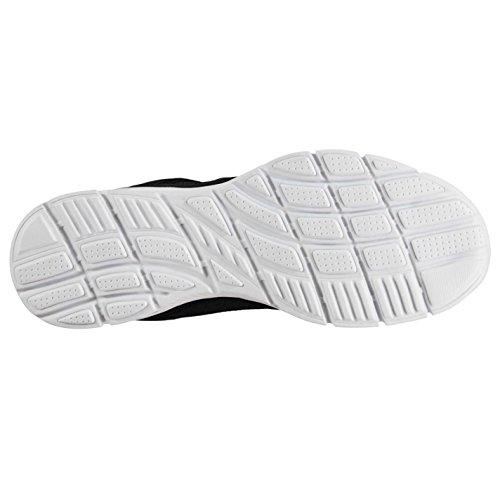 Slazenger Mens Force Mesh Scarpe Da Corsa Stringate Memory Leggero Traspirante Nero / Bianco