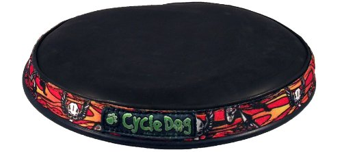 Cycle Dog Flat Tire Flyer Recycled Flexible Flying Disk Dog Toy, Skulls n Bikes