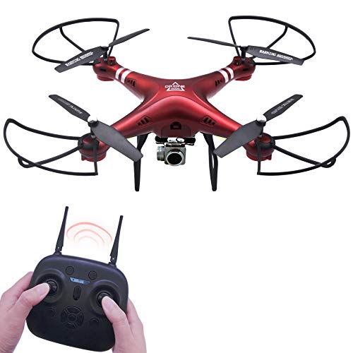 Keliwow RC Drone with Camera 2MP WiFi HD 1080P Hobby RC Quadcopter Drone FPV for Adults Beginners Kids Remote Control UAV RTF (Red)