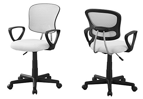 L&S Basics 10889 Office Chair - White Mesh Juvenile / Multi-Position by L&S Basics