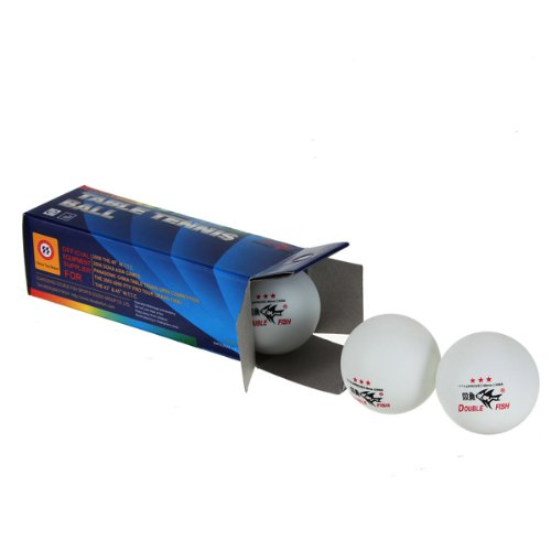 MECO 3PCS Double Fish ITTF Approved 3-Stars Table Tennis Ping Pong Ball 40mm for Match (White)