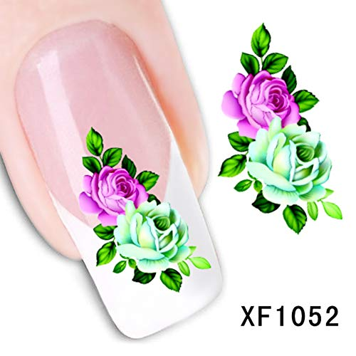 (Nail Art Stickers By gLoaSublim,Women Beauty Pattern Nail Art Sticker DIY Decal Mixed Style Manicure Decor -)