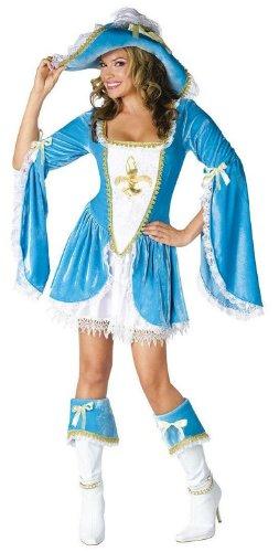 3 Musketeers Female Costumes (Madam Musketeer Adult Costume - Small/Medium)