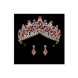 Royal Bridal Tiara And Earring Set