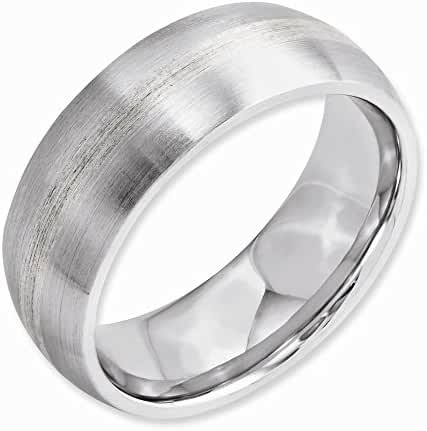 Perfect Jewelry Gift Cobalt Sterling Silver Inlay Satin 8mm Band