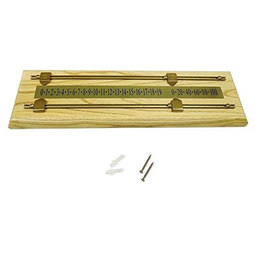 SunGlo Wood/Brass Shuffleboard Scoreboard - Light Stain by Sun-Glo