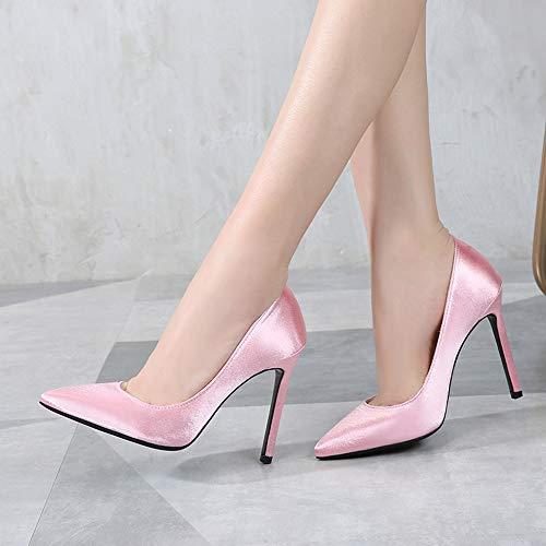 alto tacco Jqdyl dimensioni sposa scarpe a superficiale di bocca da grandi Moda spillo rosso r180xPr