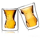 Couple Cups Naked Muscle Man & Sexy Women Wine Glass/Drink cup/Cocktail glass/Whisky glass,300ml/each,1.5 oz/each,Set of 2