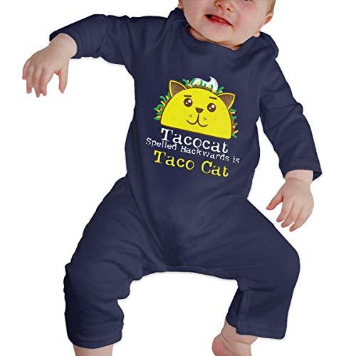 Newborn Baby Organic Coverall Mayo Taco Cat Baby Clothes Navy