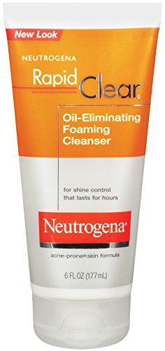 Neutrogena Rapid Clear Oil-Eliminating Foaming Cleanser, 6 Fluid Ounce (Pack of 3)