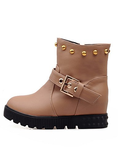 cn43 5 uk8 eu42 eu36 XZZ brown Zapatos Beige us10 black Plataforma uk8 eu42 cn43 mujer us10 Botas Punta Vestido brown Redonda 5 Blanco de Semicuero cn36 us6 uk4 Botines 5 Marrón 5 Negro SpSUAxw