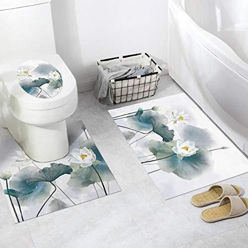 DOPTHOI - 1-3 PCS PVC Bathroom Floor Toilet Stickers Anti-s 3D Self-adhesive DIY Waterproof Toilet Floor Sticker For Toilet Sticker