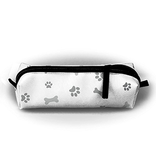 Bulldog Dog Paw Bone Pen Pencil Stationery Bag Makeup Case Travel Cosmetic Brush Accessories Toiletries Pouch Bags Zipper Resistance Carry Handle Power Lines Hanging Handbag Documents ()