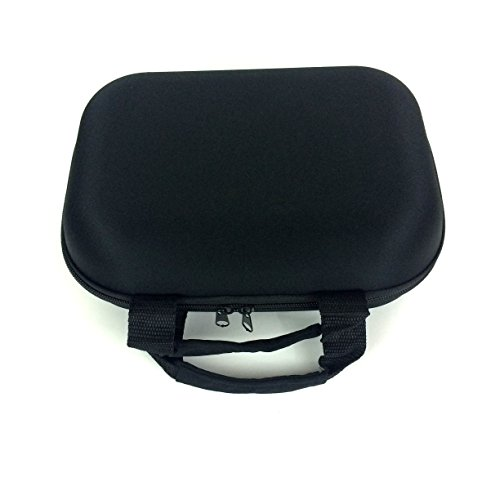 XL Large Zippered Padded Pouch Hard Carrying Case Protective Glass Storage for Pipes (Black) ()