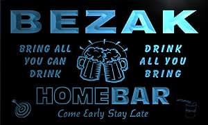 q03604-b BEZAK Family Name Home Bar Beer Mug Cheers Neon Light Sign