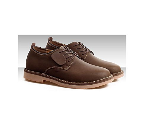 Sport Primavera Scarpe Round Brown Estate Uomo Punta Inverno zmlsc A Ribbon da Autunno Casual Soft Business Colore Canvas 1xHvHawq