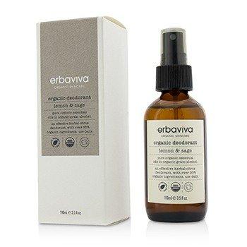 Lemon Sage Organic Deodorant - Erbaviva Lemon Sage Organic Deodorant 3.4 oz