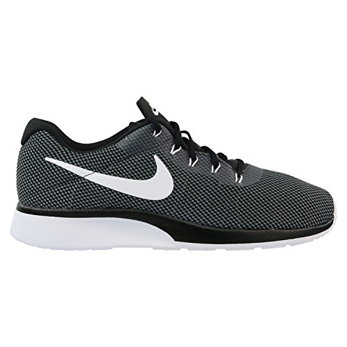 NIKE Mens Tanjun Racer Fabric Low Top Lace Up, Dark Gray/White-Black, Size 11.5